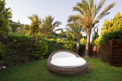 A garden outside Hotel Riviera dei Fiori