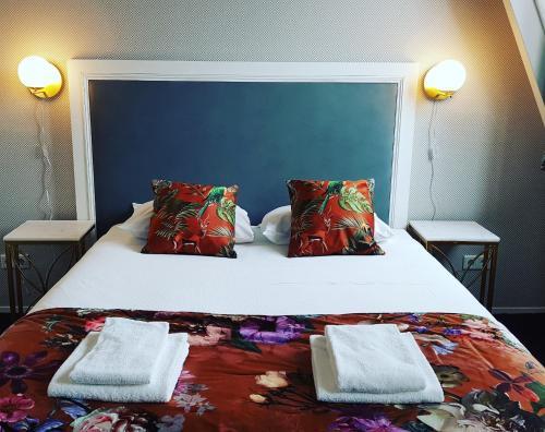 Een bed of bedden in een kamer bij Hotel Zilt