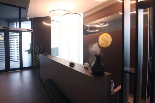 The lobby or reception area at Hotel Santin