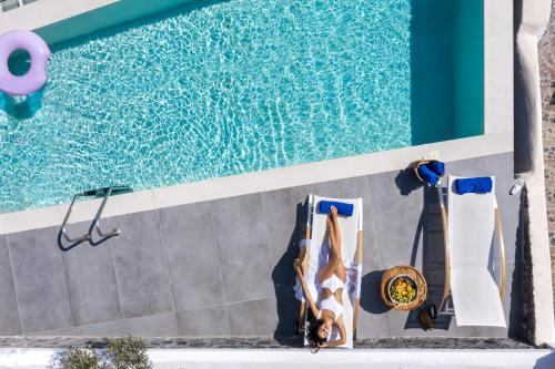A view of the pool at Mythical Blue Luxury Suites or nearby