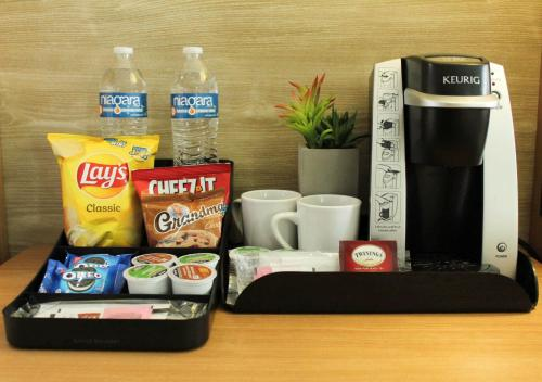 Coffee and tea-making facilities at Holiday Inn San Marcos Convention Center, an IHG Hotel