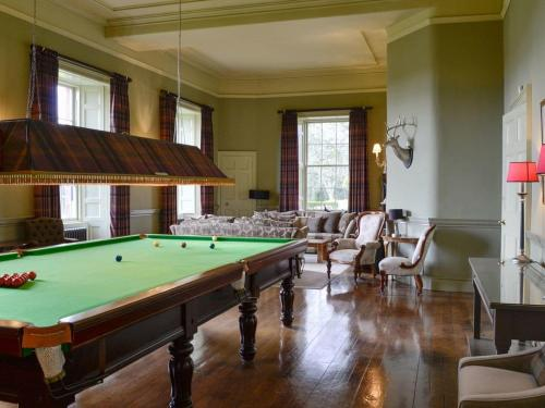 A pool table at Little Fasque Castle