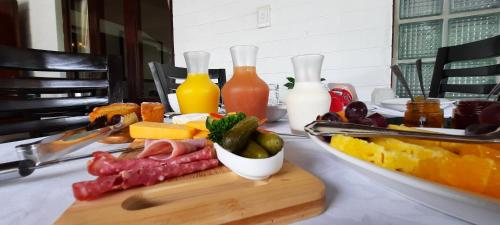 Breakfast options available to guests at St. Lucia Wetlands Guest House