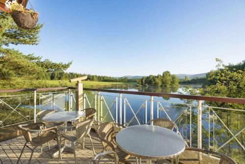 A balcony or terrace at Days Inn Lockerbie - Annandale Water