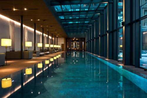 The swimming pool at or near The Chedi Andermatt