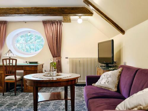 Ein Sitzbereich in der Unterkunft Villa Ammende Restaurant and Hotel