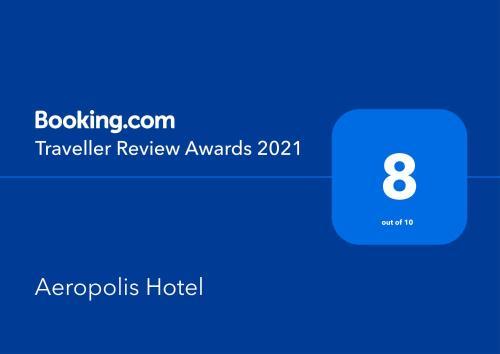 Сертификат, награда, вывеска или другой документ, выставленный в Отель Аэрополис