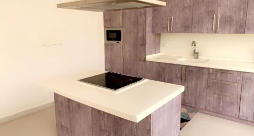 مطبخ أو مطبخ صغير في شاليه العز