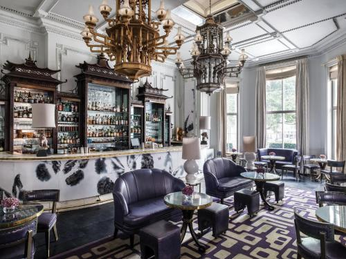 The lounge or bar area at The Langham London