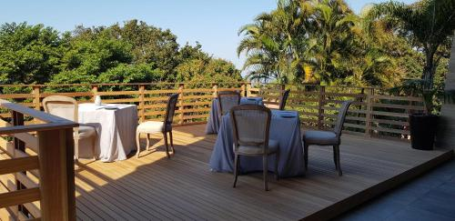 A balcony or terrace at Endless Horizons Boutique Hotel