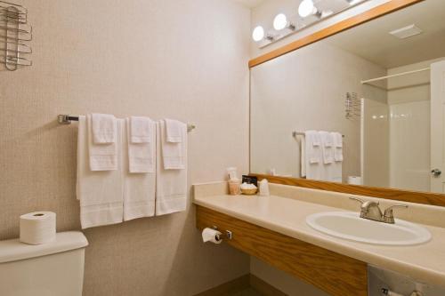 A bathroom at Sequim Bay Lodge