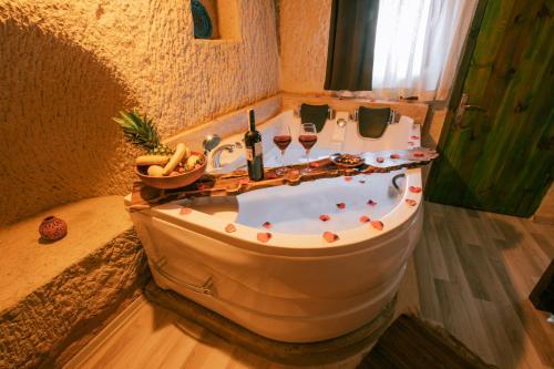 A bathroom at Mia Cappadocia Cave Hotel