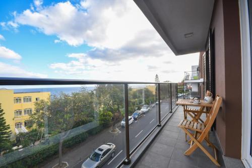 A balcony or terrace at Vanda's Sea View Apartment