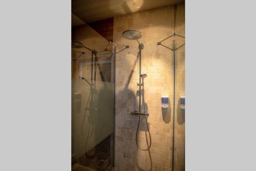 A bathroom at Le Spa du Cabanon: Cabanon de luxe avec Spa entièrement privatif