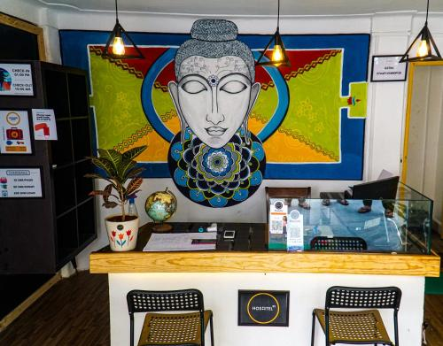 The lobby or reception area at HOSHTEL99 - STAY, COWORK & CAFE - A Backpacker Hostel