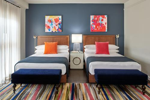 A bed or beds in a room at Hotel Colonnade Coral Gables, Autograph Collection