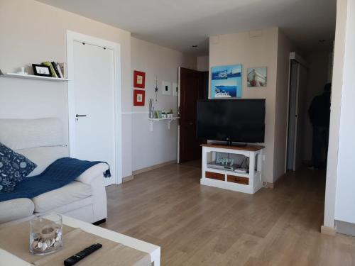 A television and/or entertainment center at Apartamento Urbanova