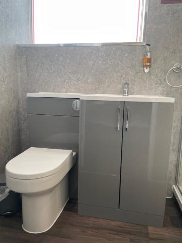 A bathroom at Claxton Hotel