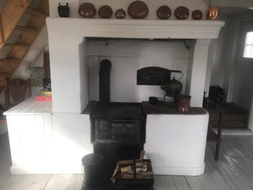 Ett kök eller pentry på Ullaberg