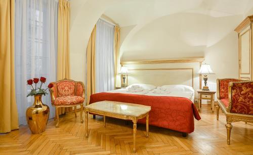Кровать или кровати в номере Hotel Residence Green Lobster