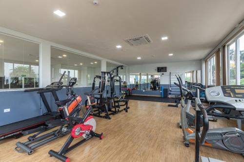 The fitness center and/or fitness facilities at Hotel Baviera Iguassu