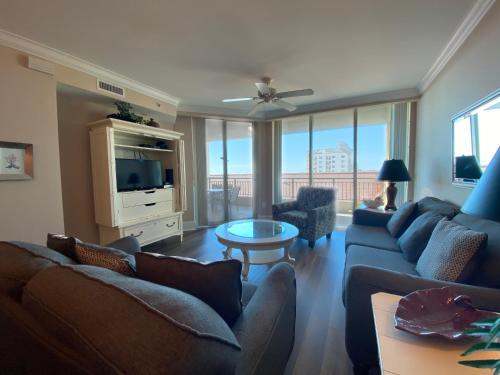 A seating area at Mar Vista Grande by Palmetto Vacation Rentals
