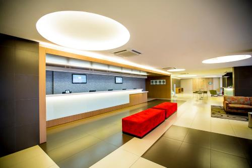 The lobby or reception area at St Paul Plaza Hotel