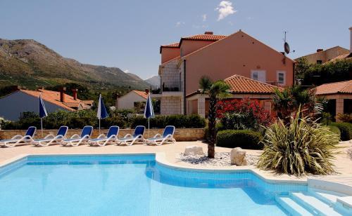The swimming pool at or close to Villa Alegria Cavtat