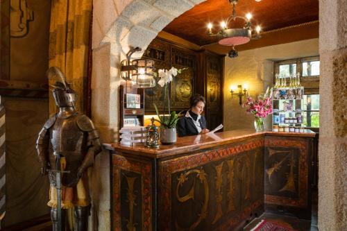 The lobby or reception area at Chateau de Codignat - Relais & Châteaux