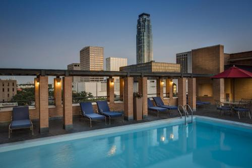 The swimming pool at or near JW Marriott Houston