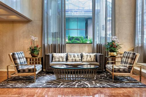 A seating area at The Donatello Hotel