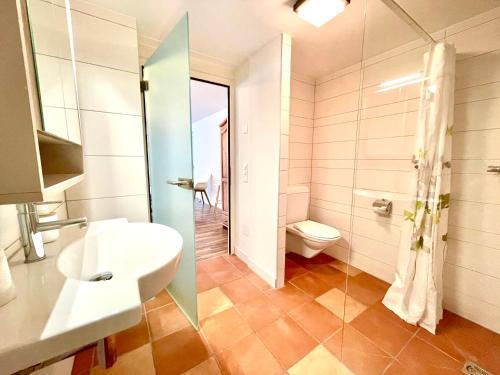 Ein Badezimmer in der Unterkunft Pilatus Apartments