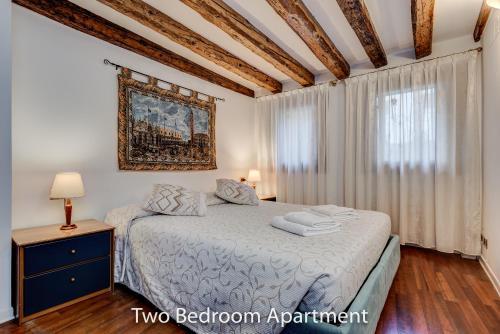 מיטה או מיטות בחדר ב-Ca' Francesco