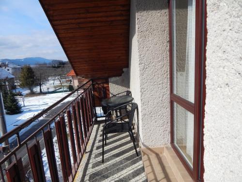 Balkón alebo terasa v ubytovaní Privat Severka
