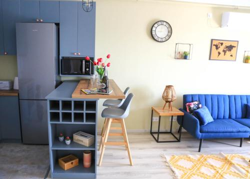 A seating area at Dominic Apartment by the Forest
