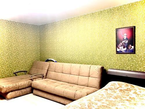 Гостиная зона в Apartments on Meridiannaya Ulitsa 3 у набережной Казанки