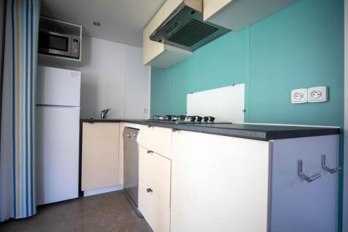 Een keuken of kitchenette bij Camping RCN Belledonne