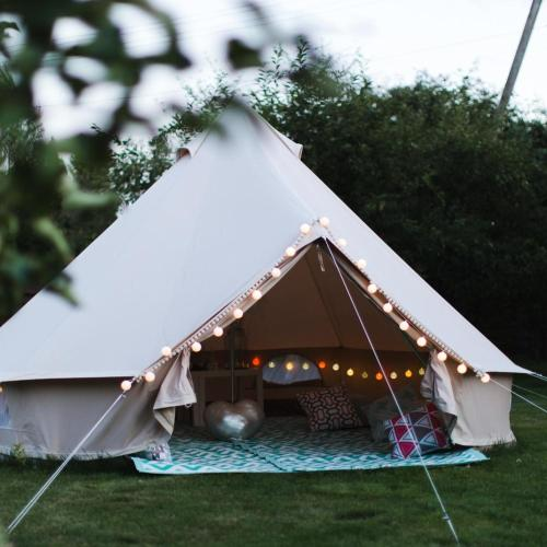 A garden outside Family Bell Tent up to 6pax