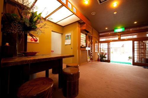 The lobby or reception area at Ryokan Kappo Sekiya