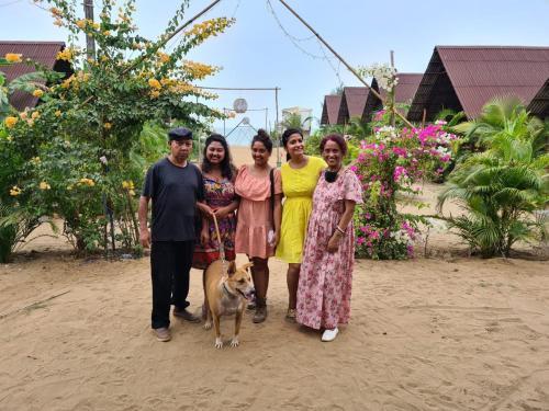A family staying at Royal Agonda
