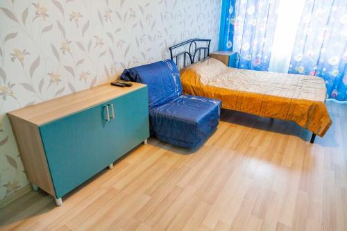 Кровать или кровати в номере Apartments na 1 Maya 278