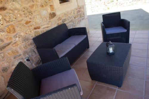 A seating area at Casal Rivas
