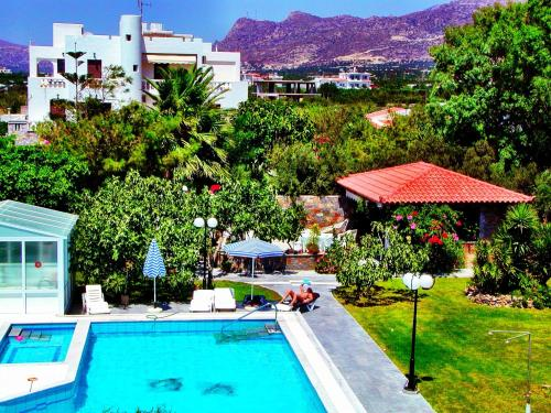 A view of the pool at Irene Villa or nearby