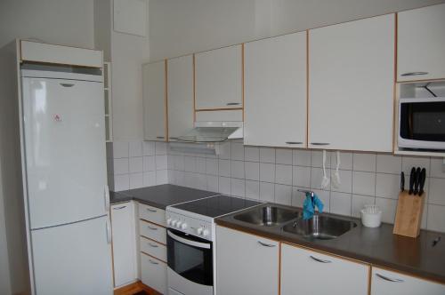 A kitchen or kitchenette at Apartementos Saukkohaka