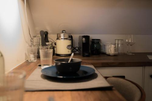 A kitchen or kitchenette at B&B Pont