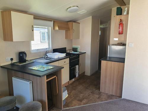 A kitchen or kitchenette at Blackmoor Farm - Caravan 3