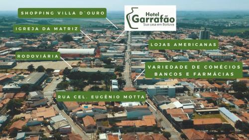 A bird's-eye view of Hotel Garrafão - Sua Casa em Boituva