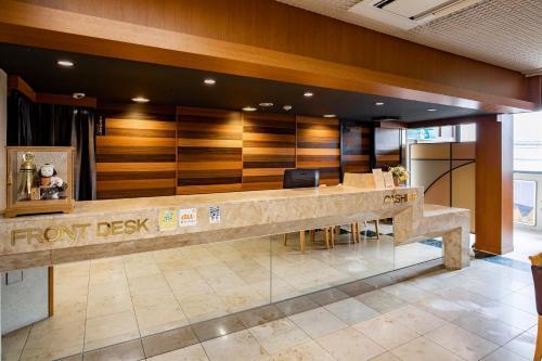 The lobby or reception area at Kanazawa Central Hotel
