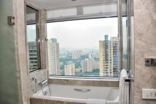 A general view of Foshan or a view of the city taken from the hotel