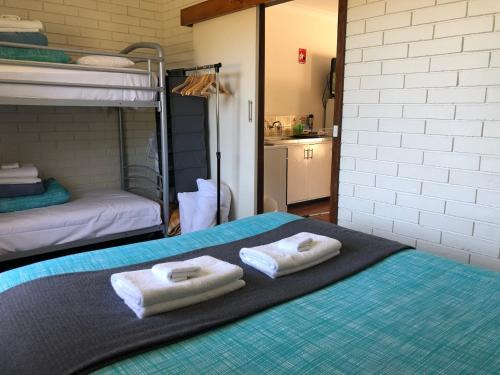 A bunk bed or bunk beds in a room at Augusta Escape Holiday Units